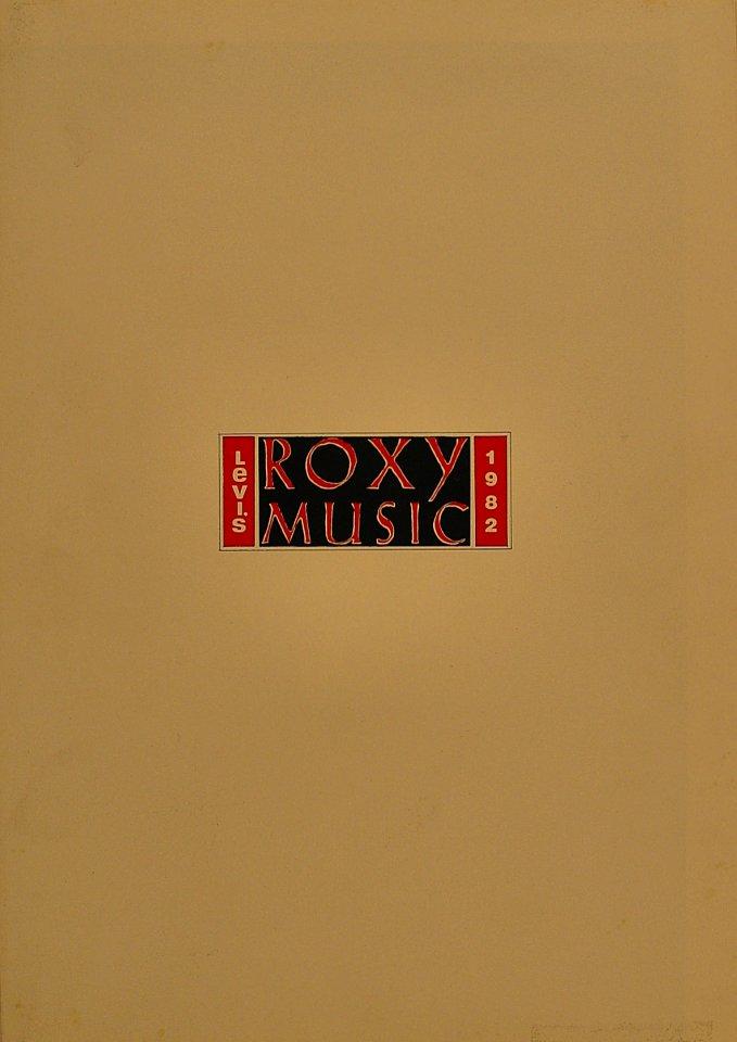 Levi's Roxy Music 1982 Program