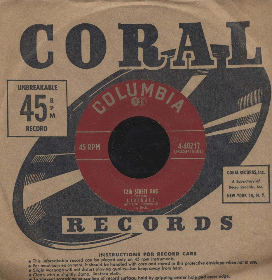 """Liberace Vinyl 7"""" (Used)"""