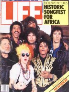 LIFE Apr 1985 Historic Songfest for Africa Magazine