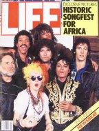 LIFE Magazine April 1985 Historic Songfest for Africa Magazine