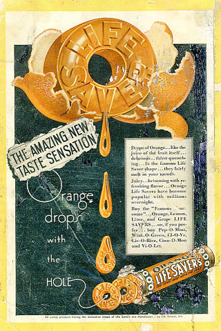 Life Savers: Orange Vintage Ad