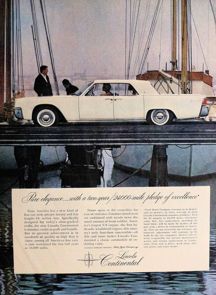 Lincoln Continental Pure Elegance Vintage Ad 1961 At Wolfgang S