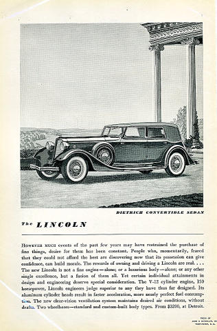 Vintage Ads Lincoln At Wolfgang S