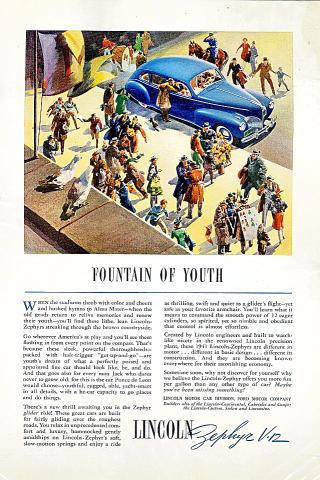 Lincoln: Zephyr V-12 Vintage Ad