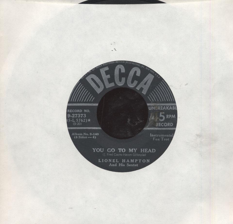 "Lionel Hampton and His Sextet Vinyl 7"" (Used)"