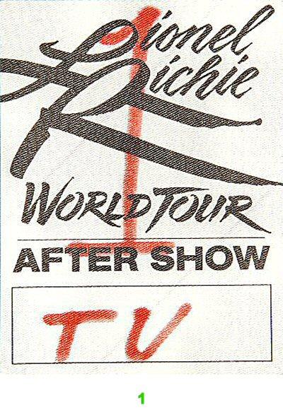 Lionel Richie Backstage Pass