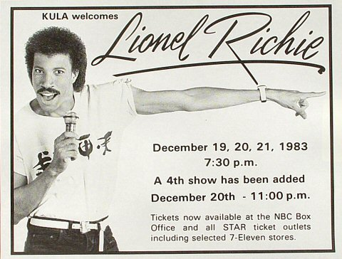 Lionel Richie Handbill