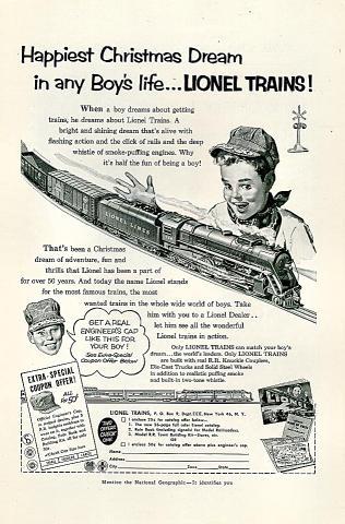 Lionel Trains Vintage Ad