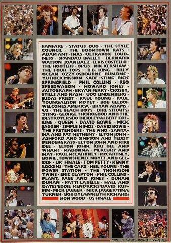 Live Aid reverse side