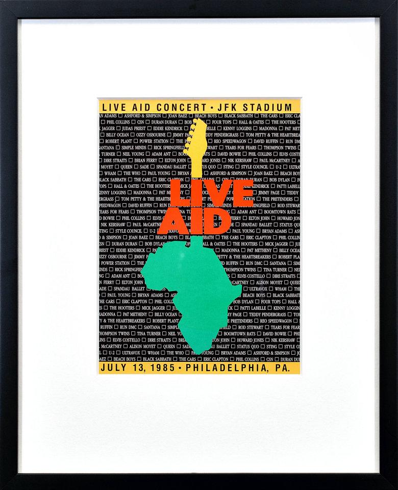 Live Aid Framed Program