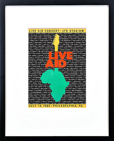 Live Aid Framed Program