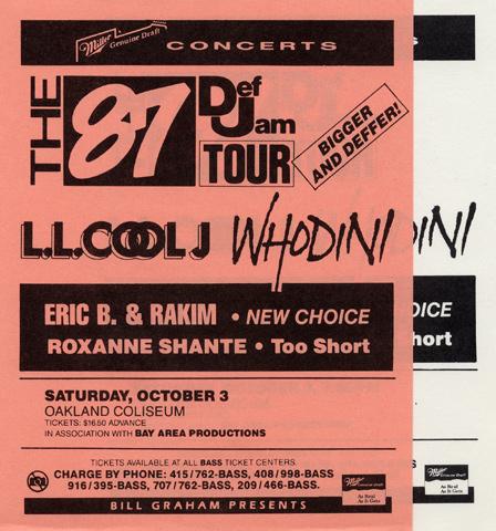 LL Cool J Handbill reverse side
