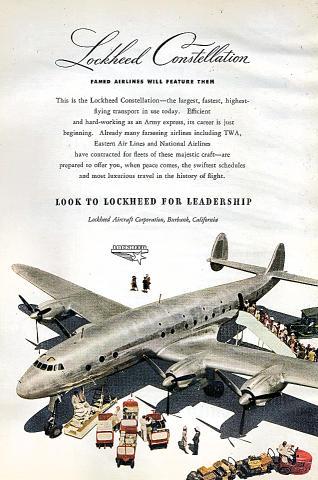 Lockheed Constellation Vintage Ad