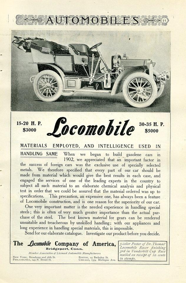 Locomobile Vintage Ad