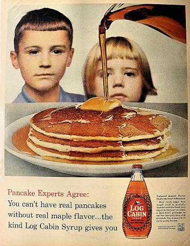 Log Cabin Syrup Vintage Ad