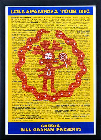 Lollapalooza Festival Framed Poster