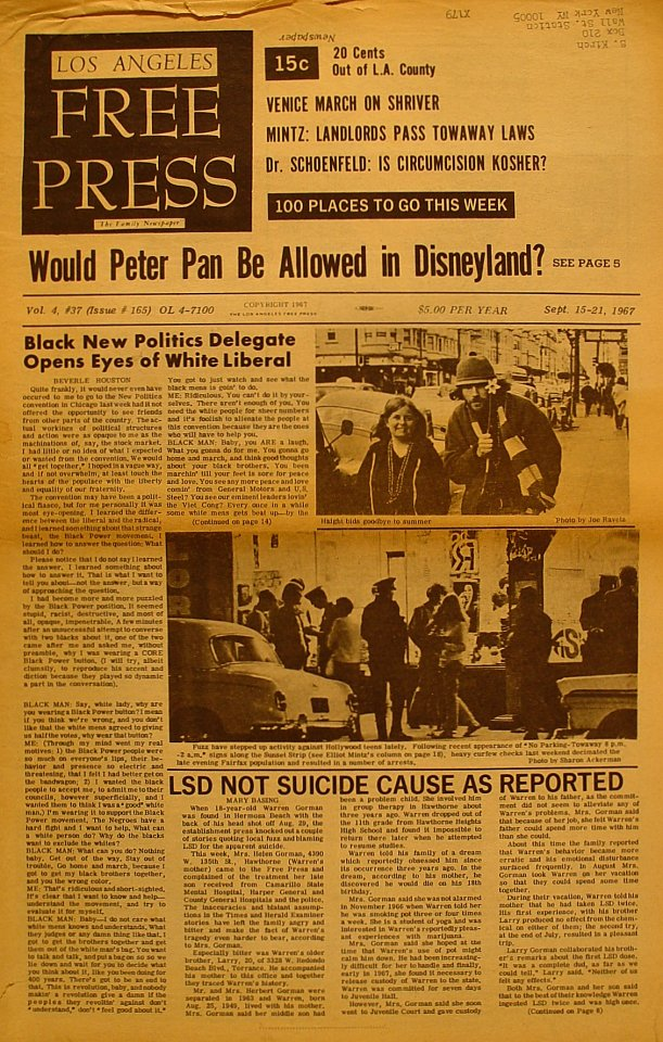 Los Angeles Free Press Vol. 4 No. 37