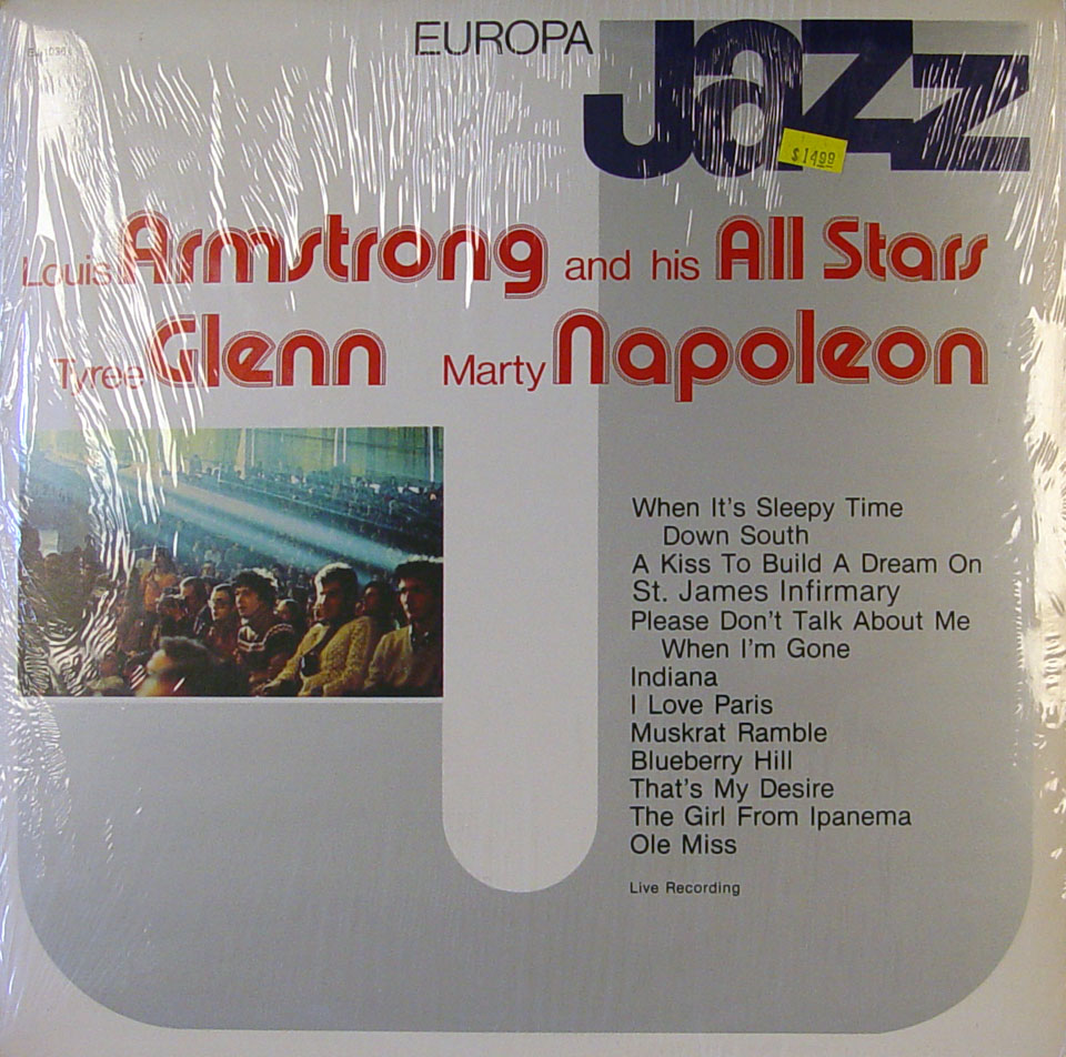 """Louis Armstrong And His All-Stars / Tyree Glenn / Mary Napoleon Vinyl 12"""" (New)"""