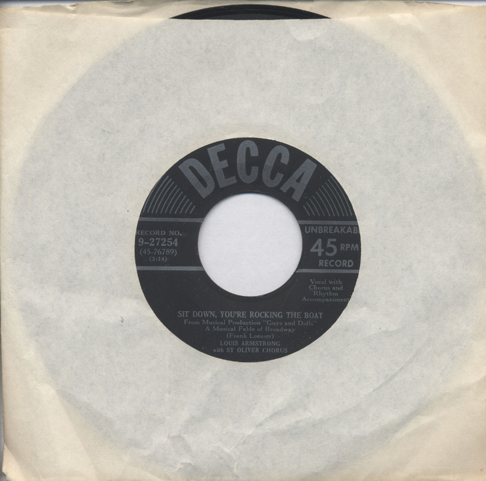 """Louis Armstrong Vinyl 7"""" (Used)"""