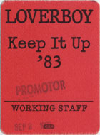 Loverboy Backstage Pass