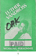 Luther Vandross Backstage Pass