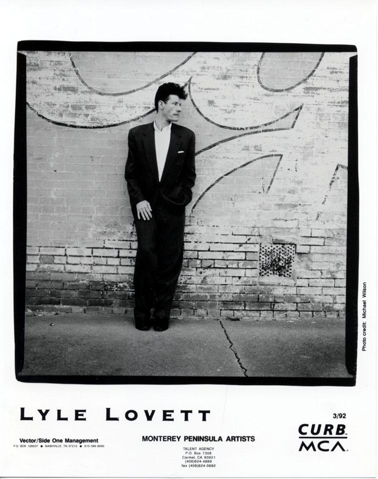 Lyle Lovett Promo Print