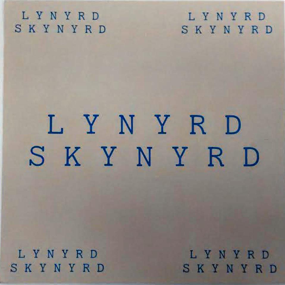 Lynyrd Skynyrd Album Flat reverse side