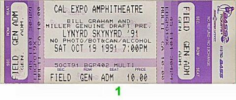 Lynyrd Skynyrd Vintage Ticket