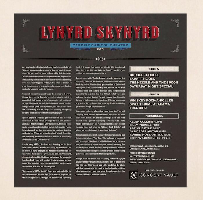 """Lynyrd Skynyrd Vinyl 12"""" (New) reverse side"""