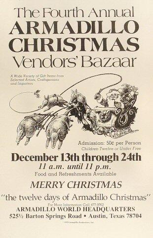 4th Annual Armadillo Christmas Vendors' Bazaar Poster