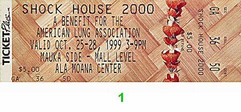 Shock House 2000 Vintage Ticket
