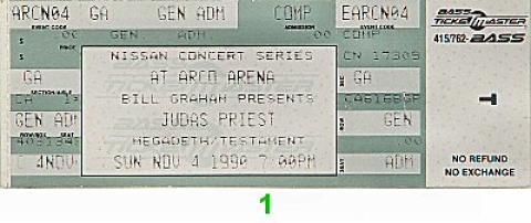 Judas Priest Vintage Ticket