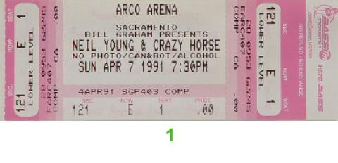 Neil Young & Crazy Horse Vintage Ticket