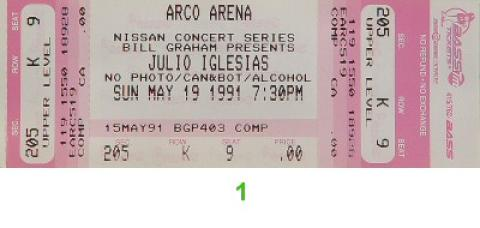 Julio Iglesias Vintage Ticket