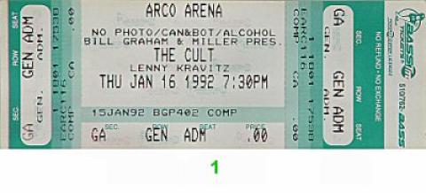 The Cult Vintage Ticket