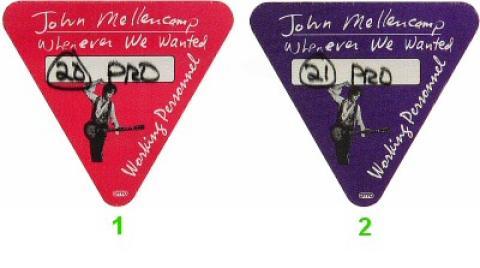 John Mellencamp Backstage Pass
