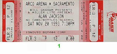 Alan Jackson Vintage Ticket