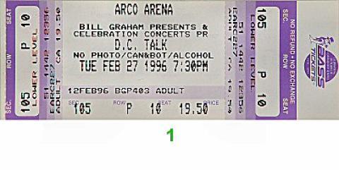 D.C. Talk Vintage Ticket