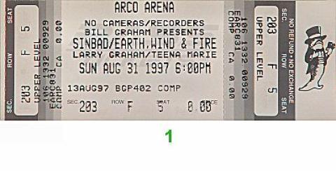 Soul Music Festival Vintage Ticket