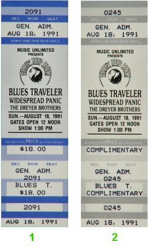 Blues Traveler Vintage Ticket