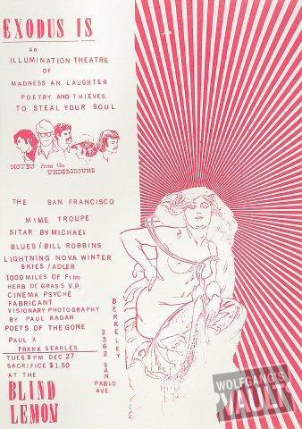 Notes From the Underground Handbill
