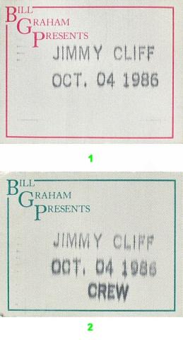 Jimmy Cliff Backstage Pass