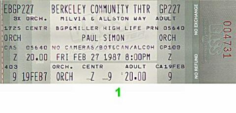 Paul Simon Vintage Ticket