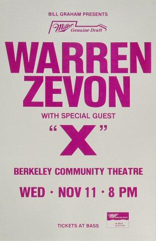 Warren Zevon Poster