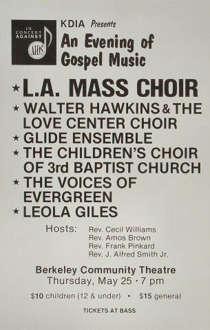 In Concert Against AIDS Benefit: Evening of Gospel Music Poster