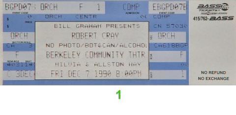 Robert Cray Vintage Ticket