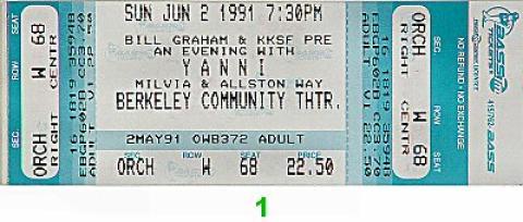 Yanni Vintage Ticket