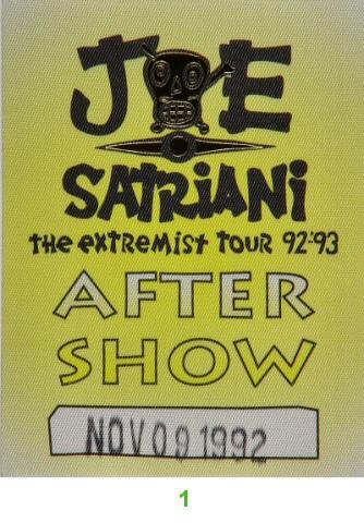 Joe Satriani Backstage Pass
