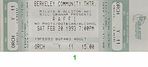 Raffi Vintage Ticket