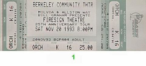 Firesign Theatre Vintage Ticket